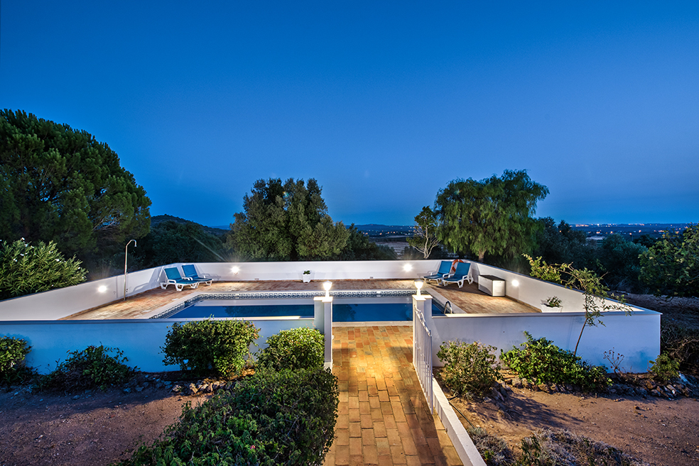 Villa Susana Pool at Dusk