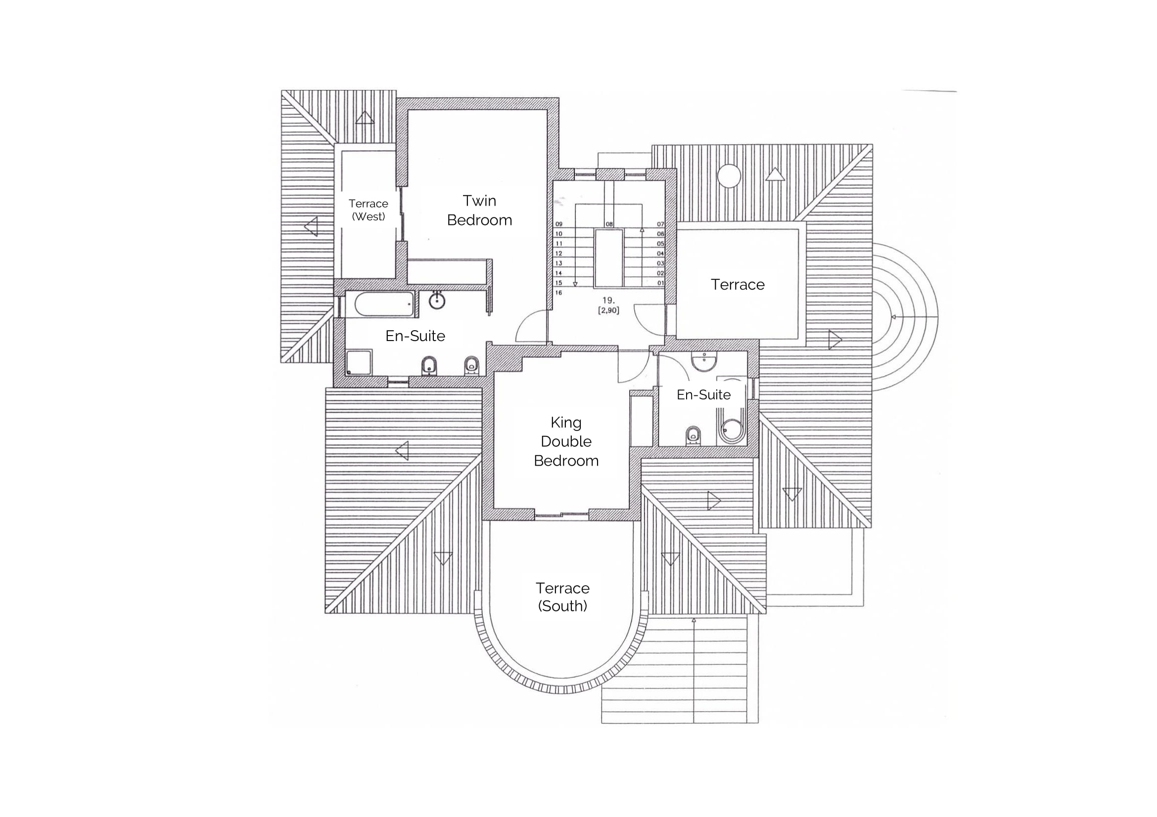 Villa Quina First Floor Layout