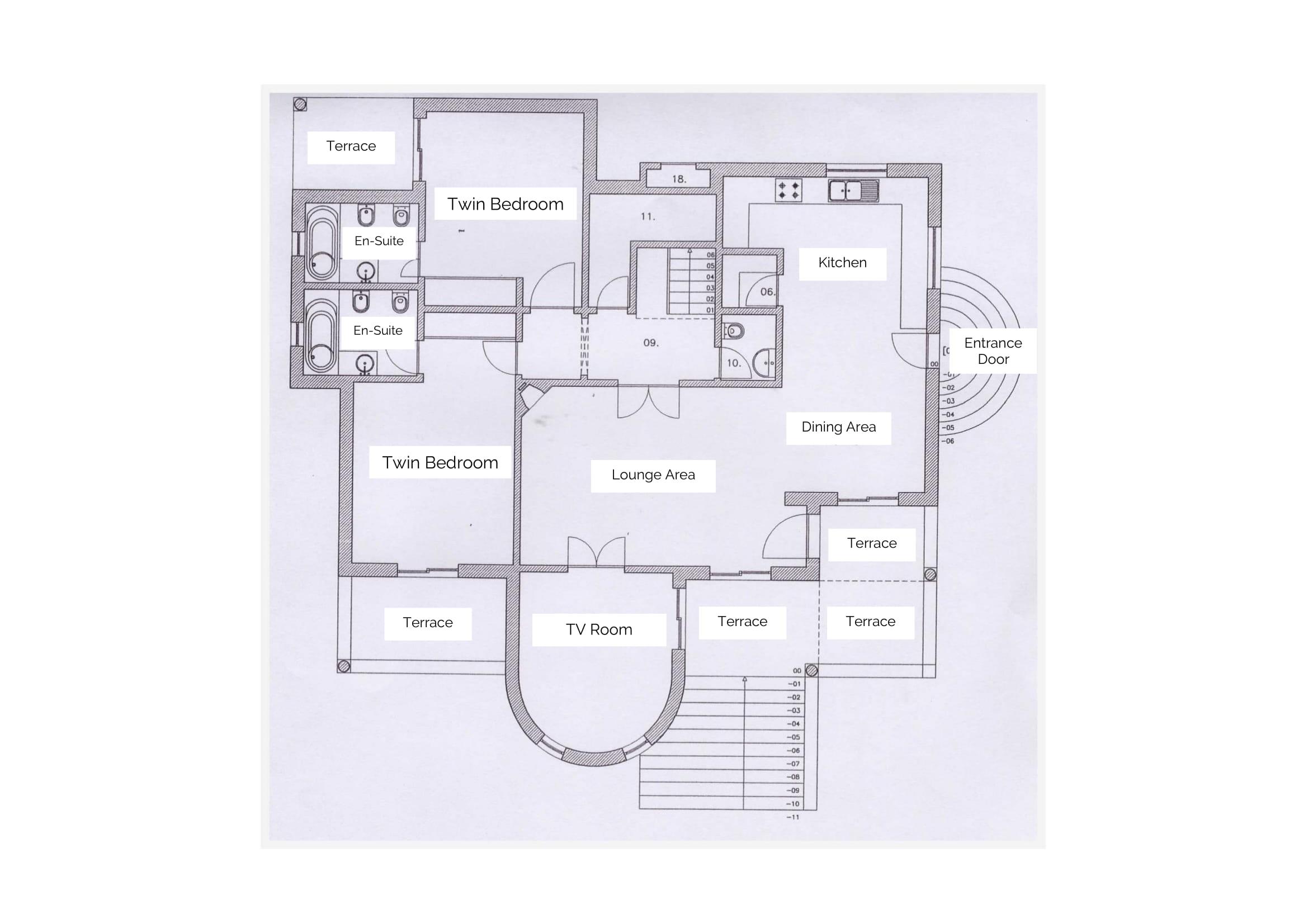 Villa Quina Ground Floor Layout