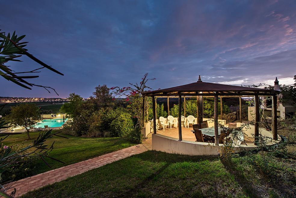 Villa Quina Barbecue Area at Night